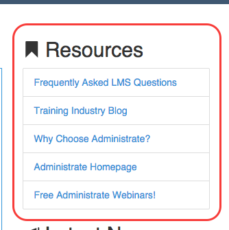 LMS Resource Links