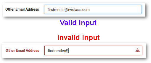Email Address Attribute Validation