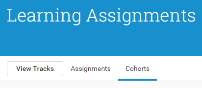 Access Cohorts through the same named tab, in Assignments