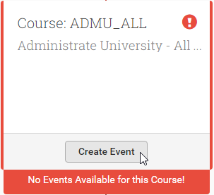 You'll be able to create Events when students sign up to a track with Course Objectives