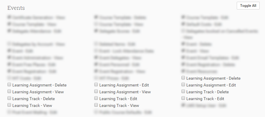 You can set your Learning Tracks permissions from the Control Panel