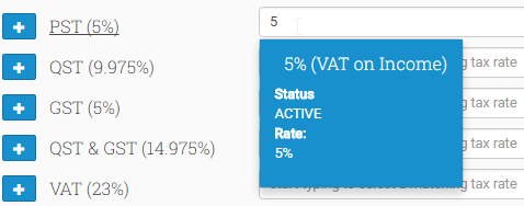 Type in the value of the Tax Rate to select the appropriate Xero Tax Rate