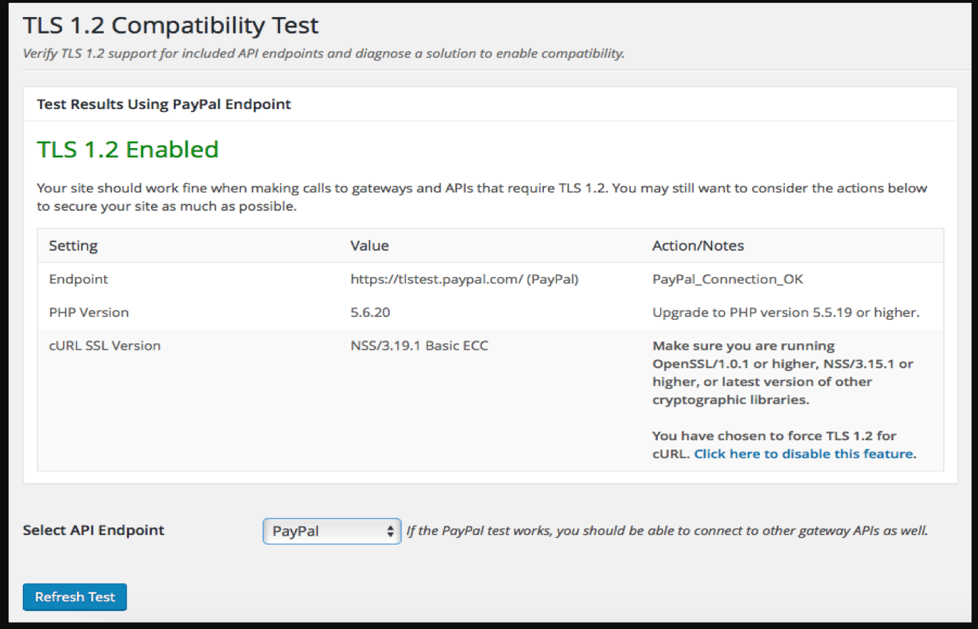 How to check your TLS version for WordPress and How to