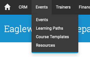 You can access the Course Templates through Events → Course Templates